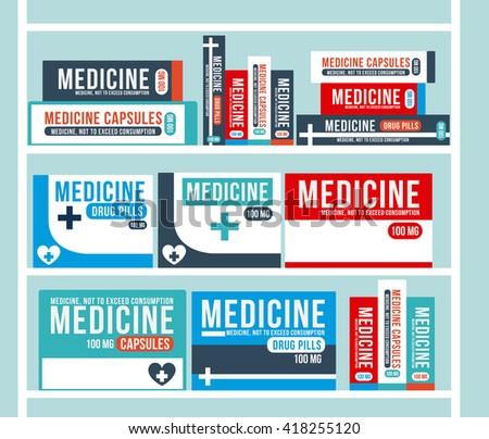 pharmacy store design  - stock vector
