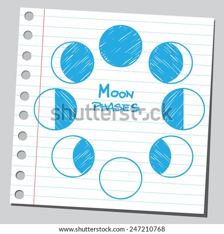 Phases of the Moon - stock vector