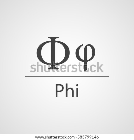 Phi Latin Letter Vector Icon Stock Vector Royalty Free 583799146