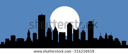 Philadelphia Pennsylvania Night Skyline