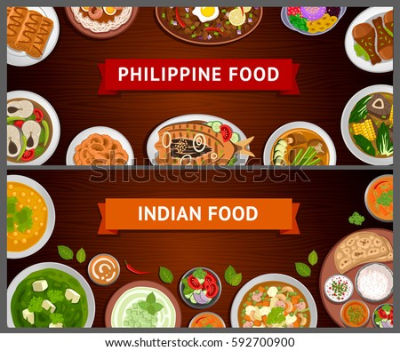 Asian food philippine indian cuisine big stock vector for Asian indian cuisine