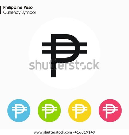Philippine Peso Sign Icon Money Symbol Vector Stock Vector Royalty