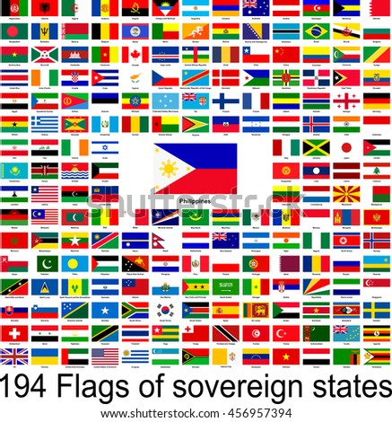 Philippines, collection of vector images of flags of the world