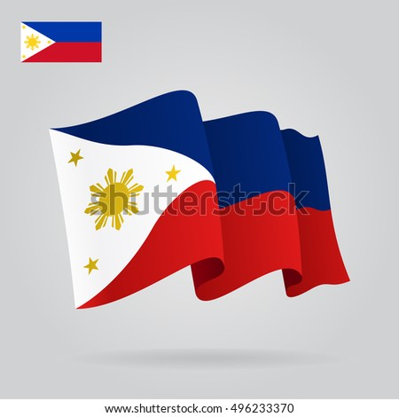 philippines waving flag vector illustration stock vector 496233370