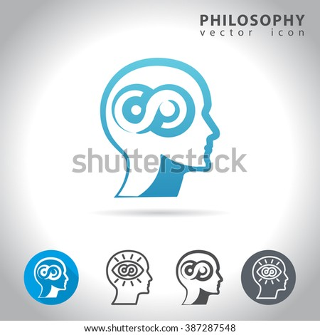 Philosophy icon set, collection of philosophy icons, vector illustration - stock vector