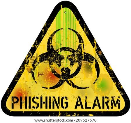 phishing alert sign, vector illustration - stock vector