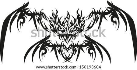 Set decorative black dolphins red hearts stock vector for Tattoo supply phoenix