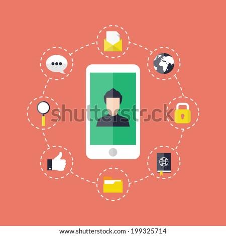 Phone application concept. - stock vector