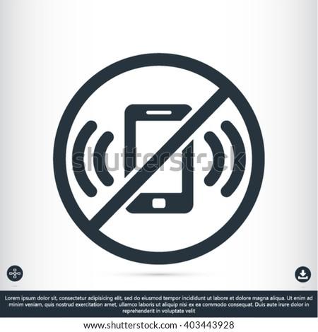 phone ban vector icon  - stock vector