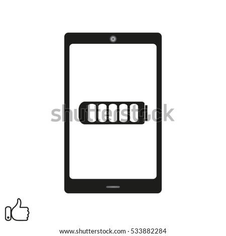 phone battery icon, vector illustration EPS 10