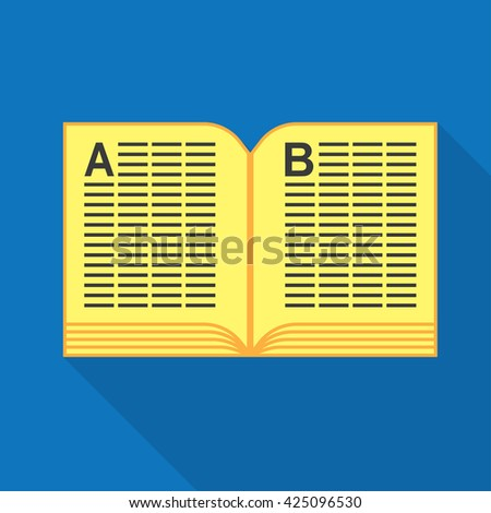 Phone Book icon in flat design style, vector illustration - stock vector