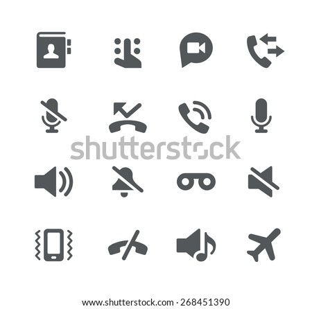 Phone Calls // Apps Interface - stock vector