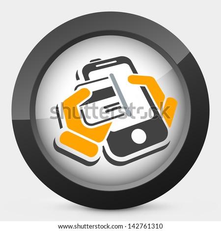 Phone card - stock vector