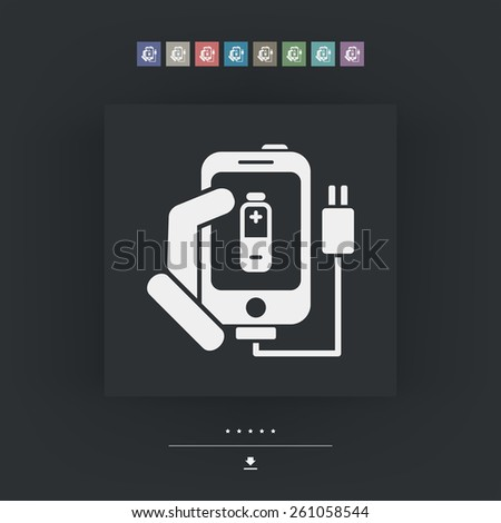 Phone charge icon - stock vector