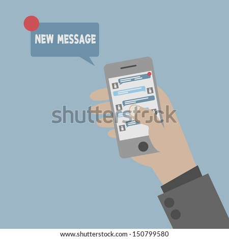 Phone Chatting - stock vector