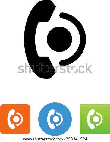 Phone connection symbol. Editable vector icons for video, mobile apps, Web sites and print projects.  - stock vector
