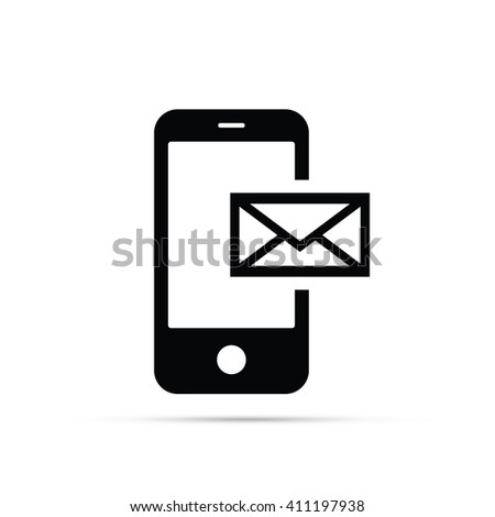 Phone Email Icon - stock vector