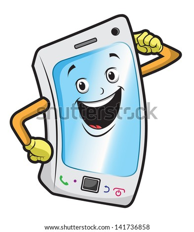 phone funny - stock vector
