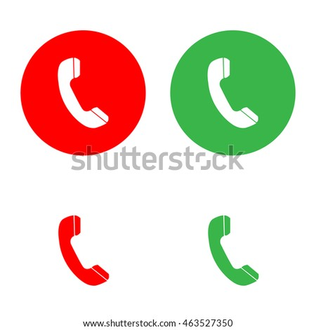 Phone Icon Answer Icon Decline Icon Stock Vector Royalty Free