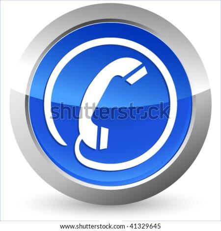 phone icon - button - stock vector