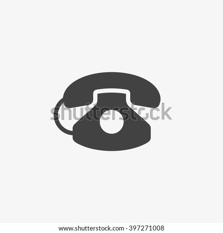 Phone Icon in trendy flat style isolated on grey background. Telephone symbol for your web site design, logo, app, UI. Vector illustration, EPS10. - stock vector