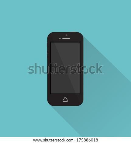 Phone icon minimal style 2 - stock vector