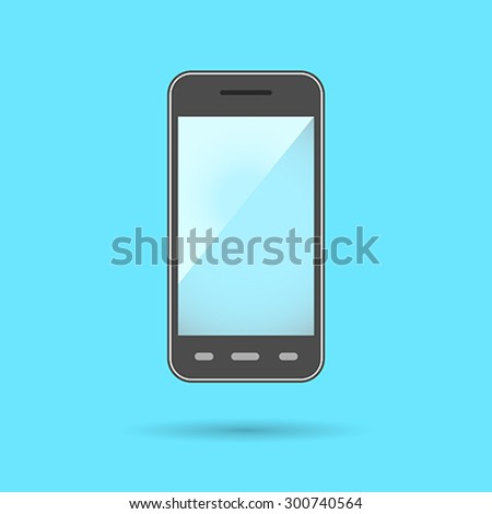 Phone Icon Symbol. Phone Flat Design collection. Smartphone modern communication device: phone, internet browsing, multimedia and camera features. Vector illustration  - stock vector