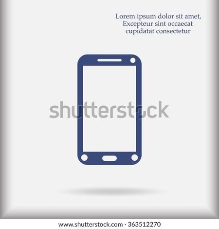 Phone icon, vector illustration. Flat design style - stock vector