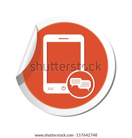 Phone icon with chat menu icon. Vector illustration - stock vector