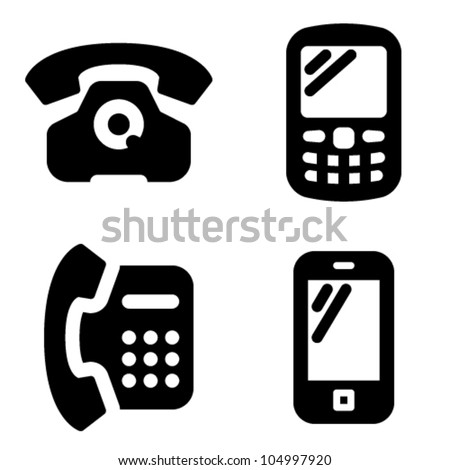 Cell phone vector icon