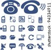 phone icons set, vector - stock vector
