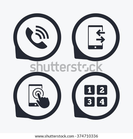 Phone Icons Touch Screen Smartphone Sign Stock Photo Photo Vector