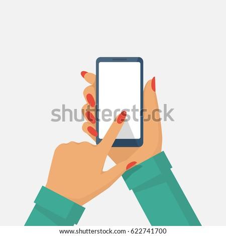 Hand Holding Phone Vector | www.pixshark.com - Images ...