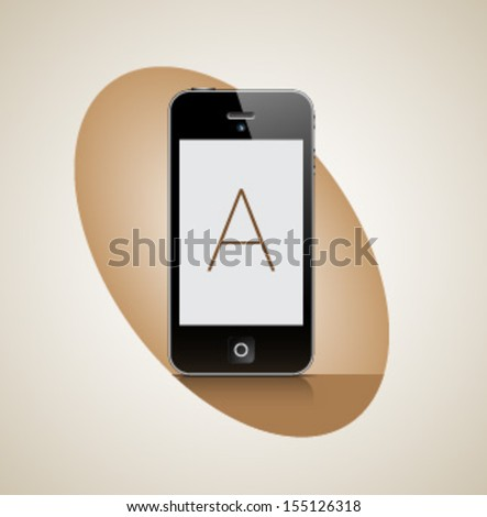 PHONE - IPHONE STYLE - stock vector