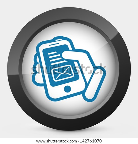 Phone message - stock vector