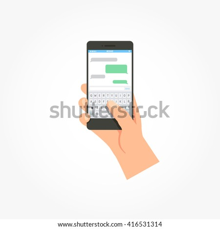 Phone Message Template Stock Vector   Shutterstock