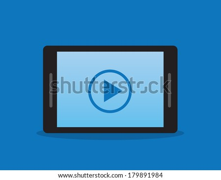 Phone or tablet with play button
