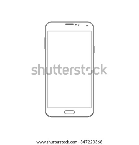 Phone outline icon on the white background. Vector design template. - stock vector