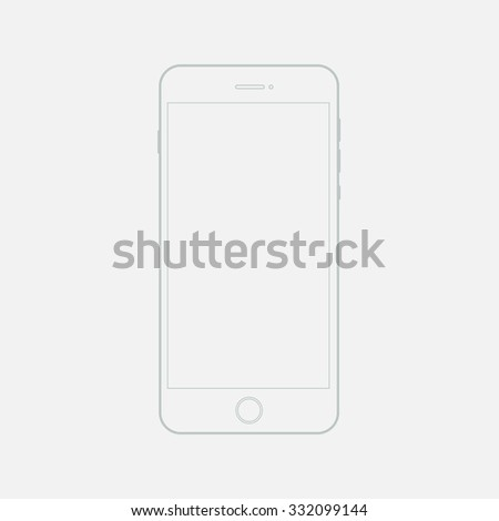 Phone outline. Phone outline icon. Clean mockup outline mobile phone. Phone outline template. Outline icon smartphone. Sketch a phone on a white background. Linear template phone. - stock vector