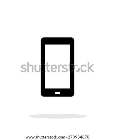 Phone screen simple icon on white background. Vector illustration. - stock vector