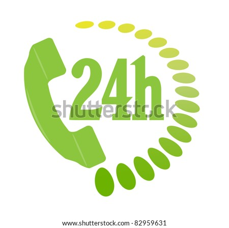 Phone services icon. Vector - stock vector