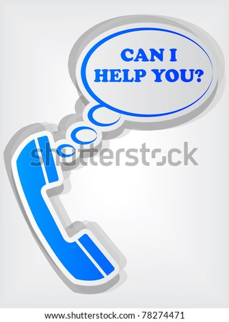 phone sign with speech bubble - stock vector