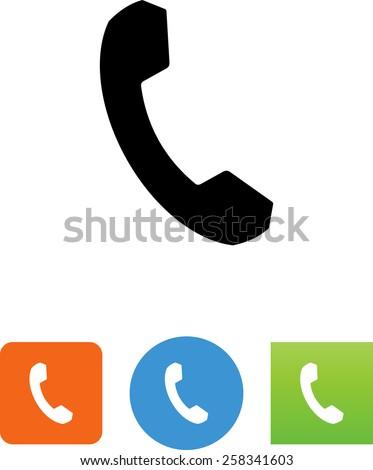 Phone Symbol Stockvector 258341603 Shutterstock