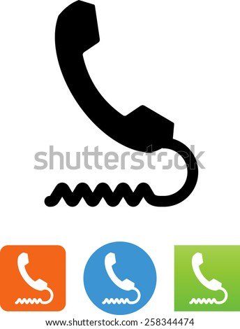 Phone symbol for download. Vector icons for video, mobile apps, Web sites and print projects.  - stock vector