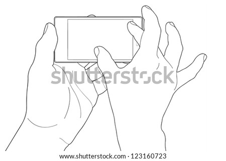 Phone touch gestures. Touch the screen