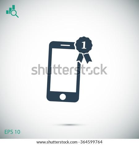 phone vector icon award - stock vector