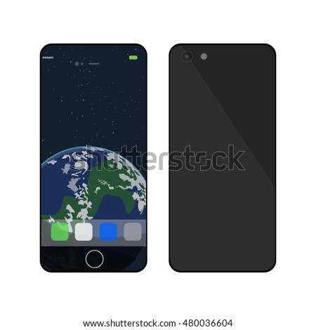 Phone Vector Illustration isolated on white background