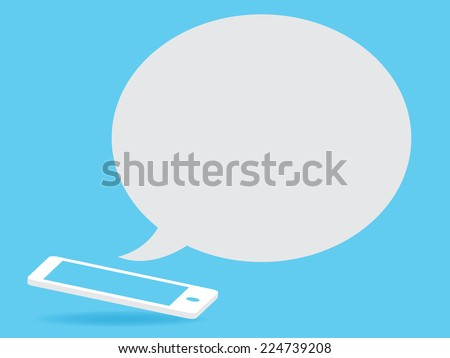 phone with speech bubble - stock vector