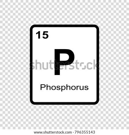 Phosphorus chemical element sign atomic number stock vector phosphorus chemical element sign with atomic number chemical element of periodic table urtaz Gallery