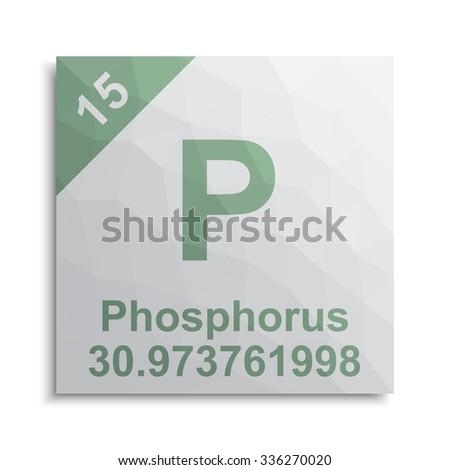 Phosphorus element periodic table - stock vector